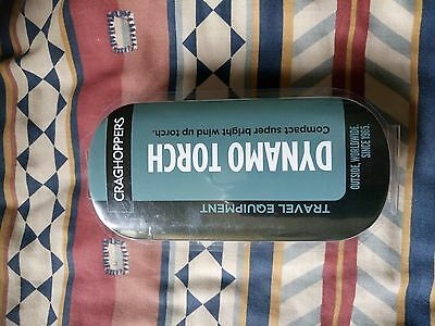 Craghoppers   Travel   Super Bright   Dynamo   Torch    With Tags    New Conditi