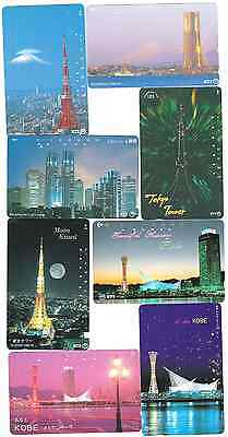 Japan towers 8 phonecards used.