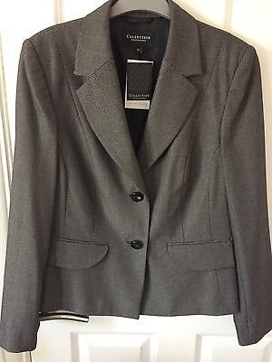 New Ladies Grey Smart Skirt And Jacket Suit (Jacket Has Tags)