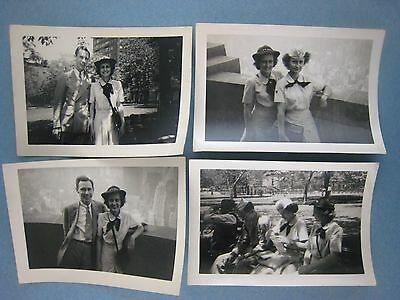 .Vintage WWII Photos...lot of 4.......' Armed Forces Gals '...