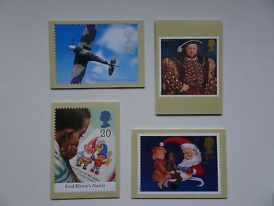 PHQ Cards 4 sets from 1997, PHQ185, PHQ188, PHQ191 and PHQ193. Mint.