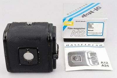 【Exc++ in Box】 Hasselblad A12 Magazine Black Film Back w/Manual from Japan #221