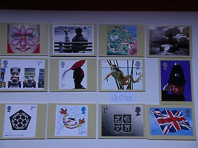 PHQ Cards 2001 - 12 sets. Complete year  Mint.