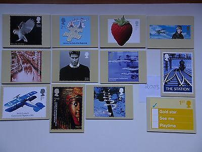 PHQ Cards 2003 - 12 sets. Complete year  Mint.