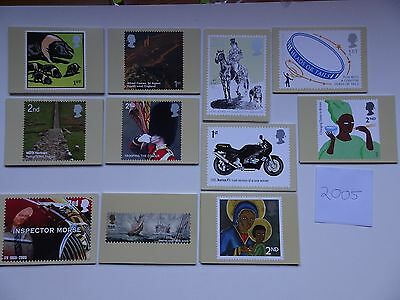 PHQ Cards 2005 - 11 sets. Complete year  Mint.