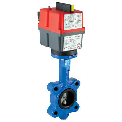 """L/E/80SSNBR-LV, 3"""" LUGGED B/FLY VALVE CI/SS/NBR LV, Actuated Ball/Gen Purpose So"""