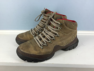 ROOTS Brown leather Women's Hiking Boots Casual Excellent 9 made in Canada