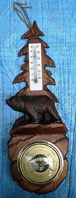 Black Forest Strolling Bear Barometer