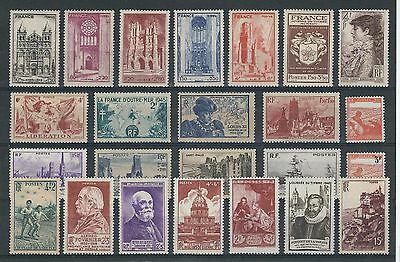 TIMBRES FRANCE NEUFS*/** ANNEES 1944-1946 (Lot 37)