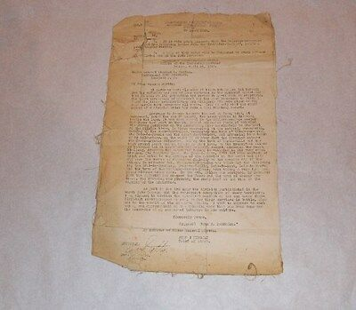 """WWI John J. Pershing Also known As  """"Black Jack"""" Letter to Major General Martin"""