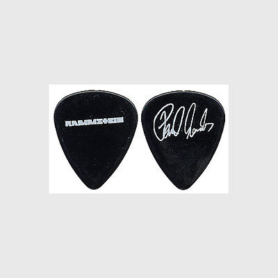 Rammstein Paul Landers authentic 2004 concert tour signature rare Guitar Pick
