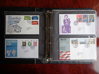 Album of 80 UK First Day Covers 1970 to 1980