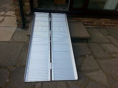 5ft Folding Access Ramp + Threshold Ramp for Wheelchair or Scooter