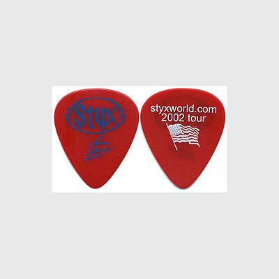 Styx Lawrence Gowan 2002 Styxworld concert tour signature stage Guitar Pick