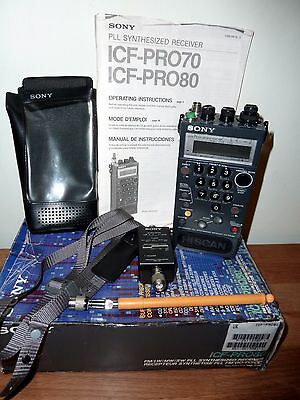 Sony Icf-Pro80 Radio. Working. Boxed With Accessories.