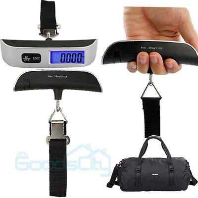 50kg/10g LCD Digital Fish Hanging Luggage Weight Travel Electronic Hook Scale