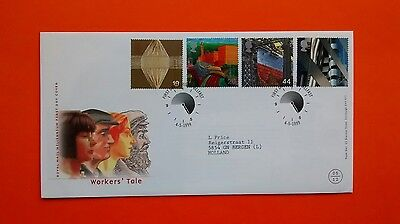 gb fdc 1999 Workers' Tale - Royal Mail cover - Belfast postmark