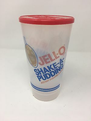 VTG Jell-O Plastic Instant Shake-A-Pudding Shaker with Lid