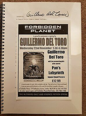 Pans Labyrinth full script signed Guillermo Del Toro