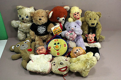 Lot of 12 Vintage Toy Plush Animals and etc. Mixed Lot