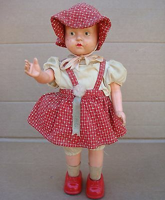 """Vintage Made In Japan """"my Sweet Heart"""" Tin And Celluloid Wind Up Walking Doll"""