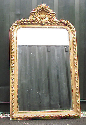 A Very Decorative, Large Victorian  Gilt Framed Mirror.