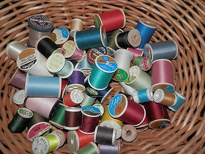 SEWING THREAD MIXED LOT OF OVER 60 SPOOLS  Various COLORS SIZES