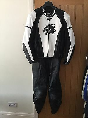 2 Piece BKS Mens Motorbike Leathers - Unused In New Condition