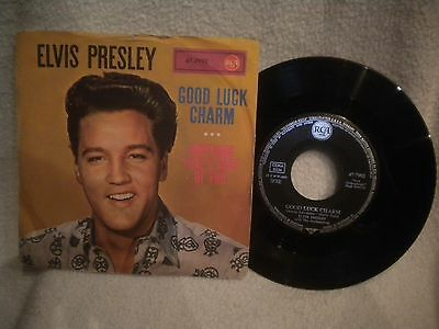 """7"""" Elvis Presley -- Good Luck Charm / Anything That´s Part Of Me"""