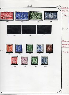Five Sets Of Kuwait On Album Pages...two Scans... Total Cat £85 Approx