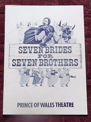 """""""Seven Brides for Seven Brothers"""" - 1986 - official programme"""