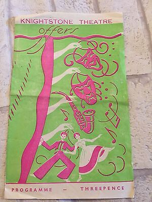 Vintage Early Programme Knightstone Theatre Weston Super Mare 5Th Panto Goose