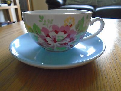 Cath Kidston Breakfast Cup And Saucer Spray Flowers Large Tea Coffee Cup