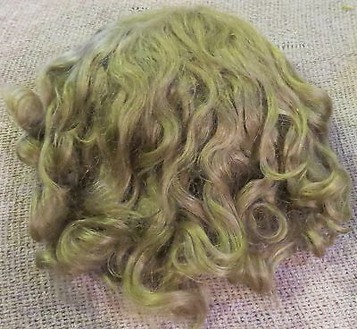 "#155 Antique 13"" Mohair Wig for Antique French or German Bisque Doll"