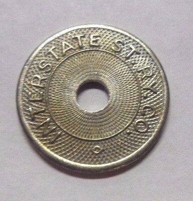 Attleboro Ma 1925 Transit Token 50A Interstate St Ry Co