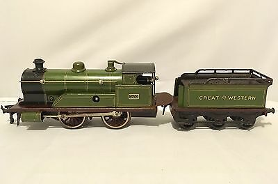 Antique Vintage Bing Great Western Clockwork Locomotive & Tender 0-4-0 No.3410