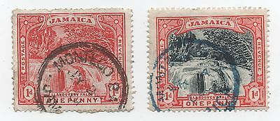 Jamaica 1900/1 Llandovery Falls 1d red and red/black used
