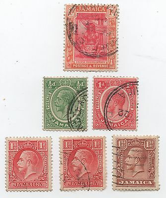 Jamaica George V 6 stamps used