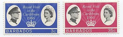Barbados 1966 Royal Visit stamps mint never hinged MNH