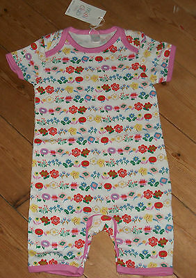 NEW Boots Mini club white & floral romper / playsuit / babygrow 9 - 12 months