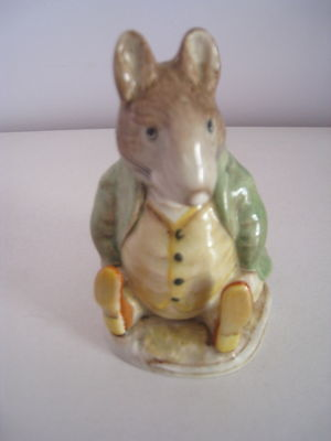 Beswick Beatrix Potter - Samuel Whiskers - Gold Oval Backstamp