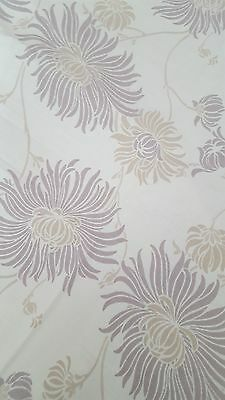 Laura Ashley KIMONO Fabric in MAUVE New From Roll 2.3 mtrs Rare & Discontinued