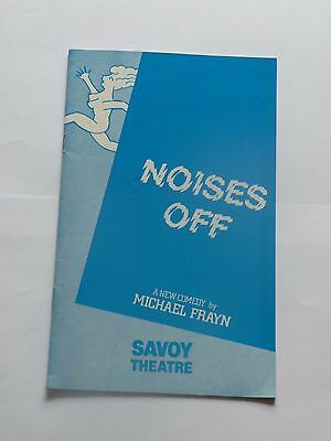 """""""Noises Off"""" by Michael Frayn, Savoy Theatre, 1982 - programme"""