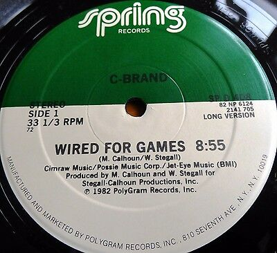 "C-Brand-Wired For Games / Plenty Of Love-Us-1982-12"" Spring Records-Funk Disco"