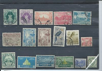 Burma stamps. Small used lot. (Z650)