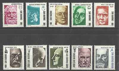 Timbres Personnages St Marin 1045/54 ** lot 4419