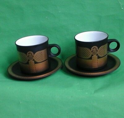 Two Hornsea Midas Cups and Saucers