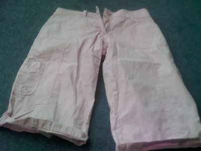 Girls pink knee length trousers/shorts - Size:  12-13 years