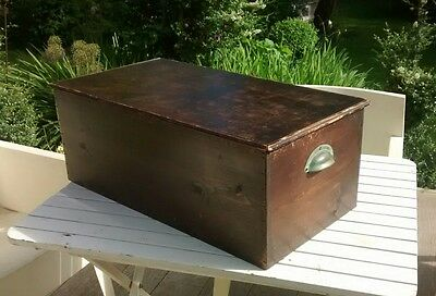 Vintage Wooden Chest Trunk Storage Box Industrial Coffee Table shabby chic