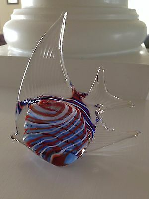Multi color Glass Fish Figurine/Paperweight
